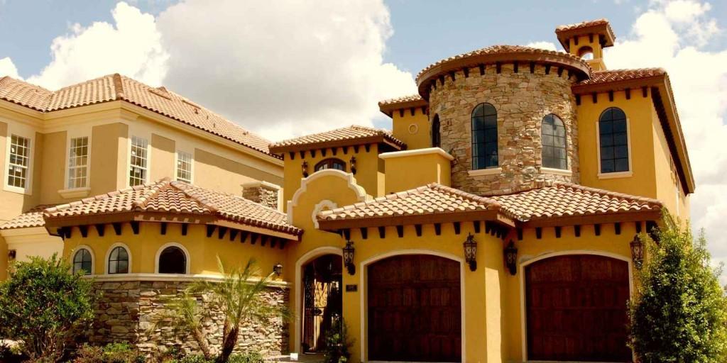 Современный дом в средиземноморском стиле