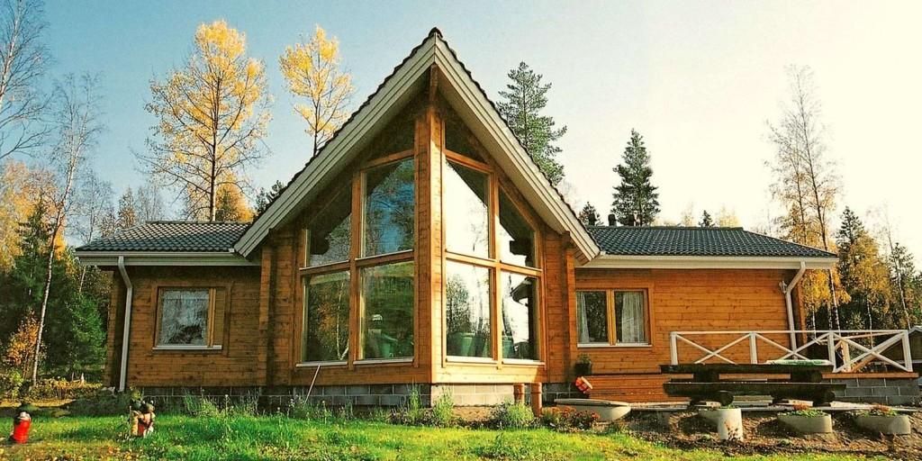 Классический пример дома в скандинавском архитектурном стиле